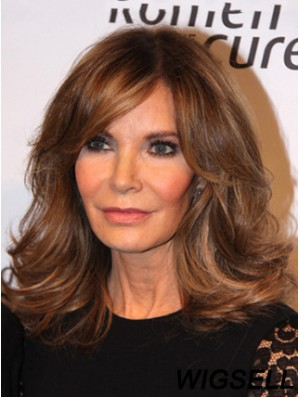 Shoulder Length Wavy Layered Full Lace Brown High Quality 14 inch Jaclyn Smith Wigs