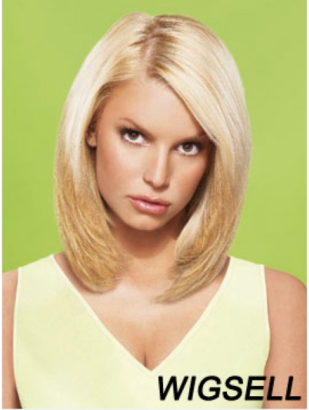 12 inch No-Fuss Blonde Short Straight Layered Jessica Simpson Wigs