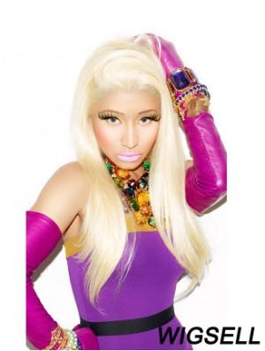24 inch Blonde Straight Without Bangs Long Discount Nicki Minaj Wigs