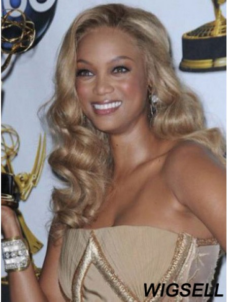 Blonde Wavy Without Bangs Lace Front 18 inch Incredible Tyra Banks Wigs