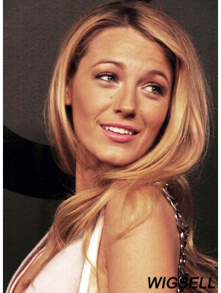 Durable Blonde Long Wavy 22 inch Without Bangs Blake Lively Wigs