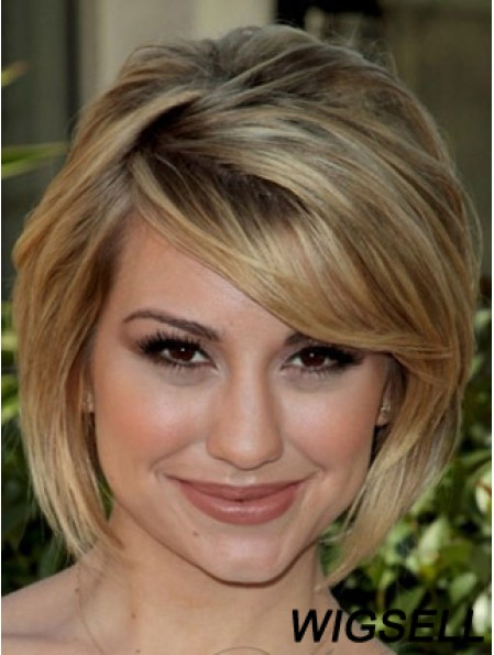 New Blonde Chin Length Straight 10 inch Bobs Celebrity Wigs