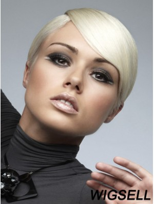 Monofilament Boycuts Short Straight 8 inch Exquisite Fashion Wigs