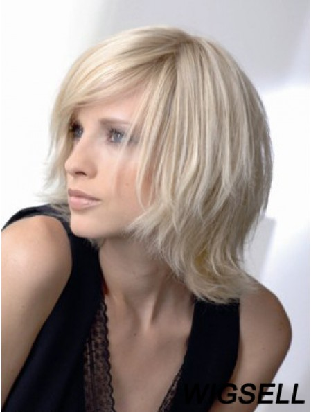 Full Lace Layered Chin Length Wavy 12 inch Platinum Blonde Amazing Fashion Wigs