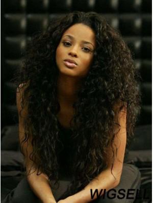 "24"" Black Lace Front Wigs For Black Women"