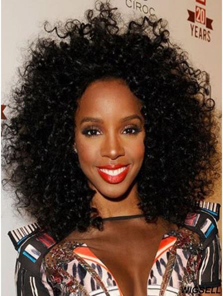 "Cheapest 14"" Shoulder Length Kinky Wigs For Black Women"