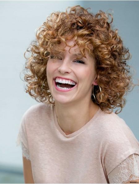 Curly Auburn Popular Shoulder Length Classic Wigs