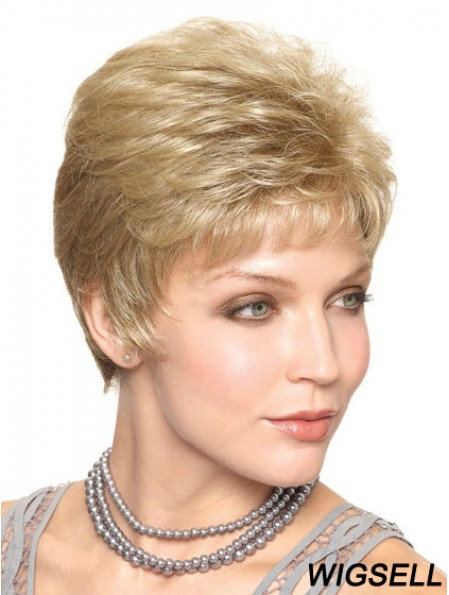 """Cropped Straight Capless Boycuts 6"""" Trendy Synthetic Wigs"""