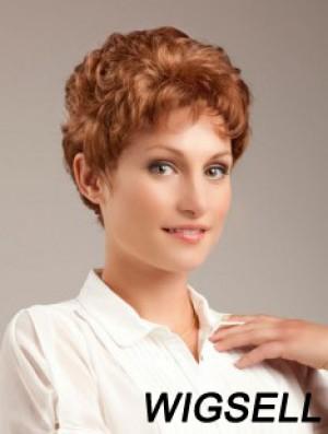 Wavy Auburn Sleek Cropped Classic Wigs