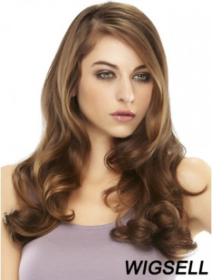 Hairpiece Remy Human Hair Long Styles Auburn Color