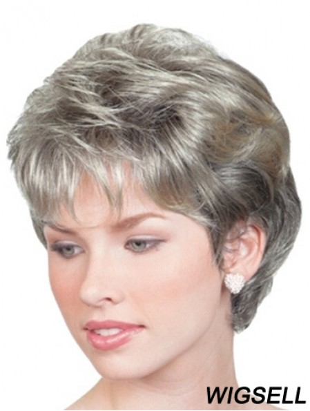 Wigs For Elderly Lady UK With Lace Front Chin Length