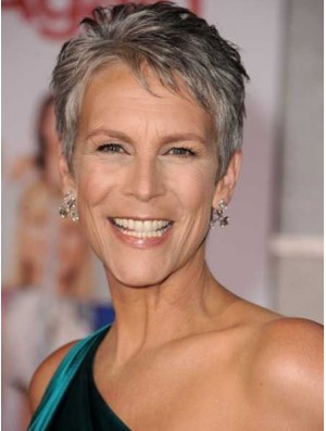 Grey Wig Short Hair Capless Wig For Women Jamie Lee Curtis Wig