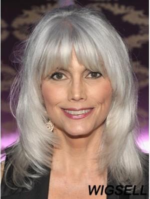 Lace Front Wig True Grey Cuut Wavy Style Shoulder Length
