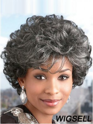 Synthetic Short Curly Capless Elderly Lady Wigs