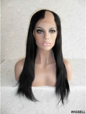 Black Long Wigs U Part Human Hair Wigs Online UK