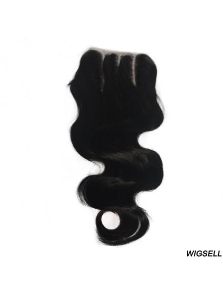 New Black Long Wavy Lace Closures