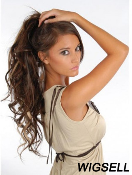 Amazing Brown Curly Remy Human Hair Clip In Hair Extensions