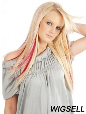 Fashion Red Straight Remy Human Hair Clip In Hair Extensions