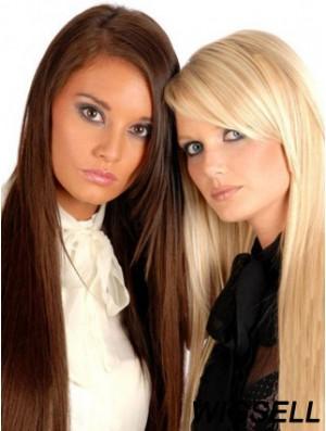 Discount Auburn Straight Remy Human Hair Clip In Hair Extensions