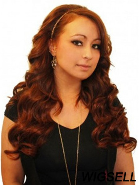Wavy Remy Human Hair Auburn Gorgeous Weft Extensions
