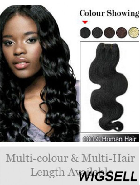 Wavy Remy Human Hair Black No-Fuss Weft Extensions