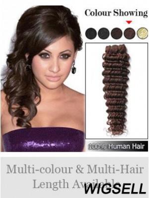 Wavy Remy Human Hair Auburn Sleek Weft Extensions
