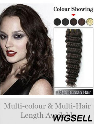 Wavy Remy Human Hair Brown Fabulous Weft Extensions