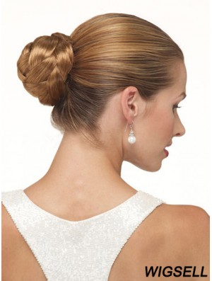 Brown Clip In Hair Buns