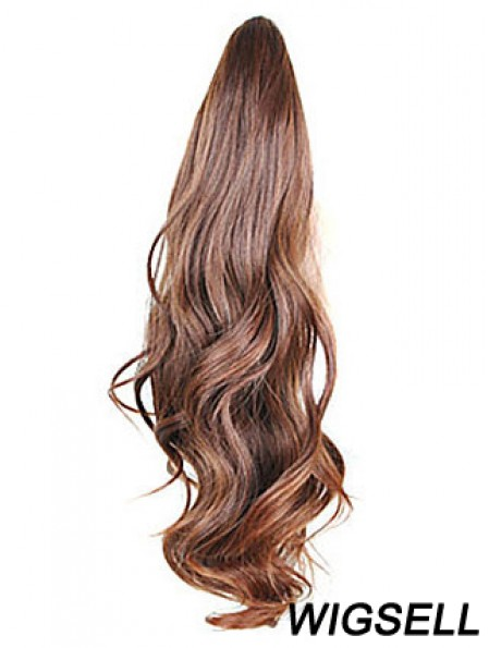 Style Wavy Brown Ponytails