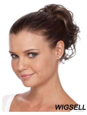 Gorgeous Brown Curly Synthetic Clip In Hairpieces