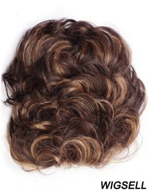 Good Auburn Curly Remy Human Hair Clip In Hairpieces