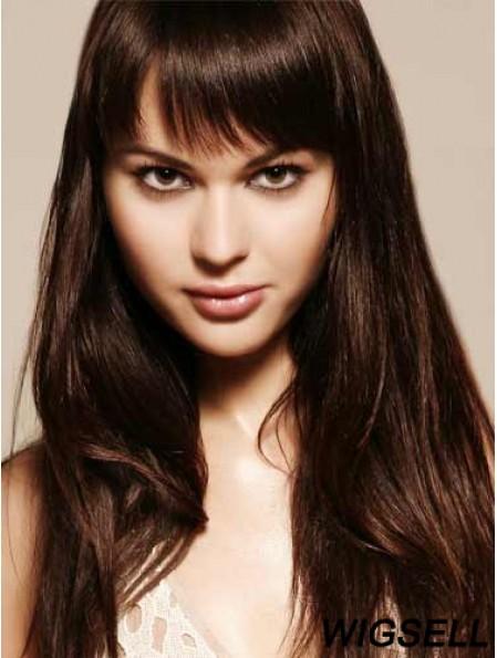 Remy Human Hair Auburn Fringe Extensions