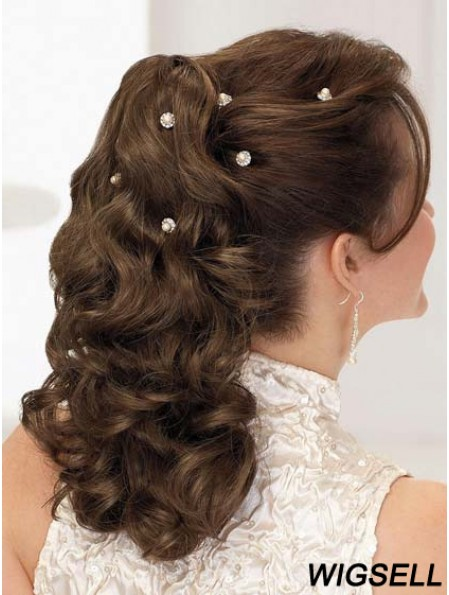 Fabulous Curly Brown Ponytails
