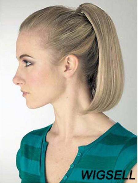 Exquisite Straight Blonde Ponytails